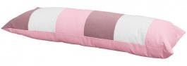 Vankúš obdĺžnik - ružová / biela