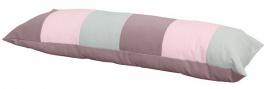 Vankúš obdĺžnik - ružová / mintová