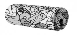 Opierka/chránič na posteľ 18x50cm Komiks - čierna / biela