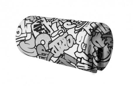 Opierka/chránič na posteľ 18x36cm Komiks - čierna / biela