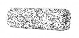 Opierka/chránič na posteľ 13x50cm Komiks - čierna / biela