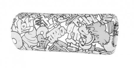 Opierka/chránič na posteľ 13x36cm Komiks - čierna / biela