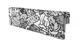 Opierka/chránič na posteľ Komiks - čierna / biela