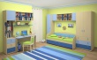Detská posteľ Aurora II 90x200cm s úložným priestorom - výber odtieňov