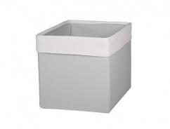 Úložný textilný box - SKANDI krémová / sivá