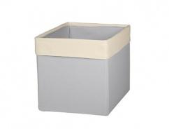 Úložný textilný box - SKANDI béžová / sivá
