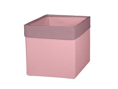 Úložný textilný box - ružová