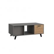 Konferenčný stolík, dub artisan / smooth šedý, Paride ST