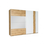 2-dverová skriňa, dub Wotan / biela, VODENA 250