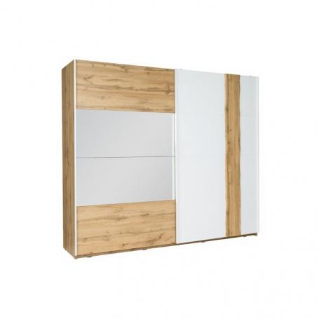 2-dverová skriňa, dub Wotan / biela, Vodena 200