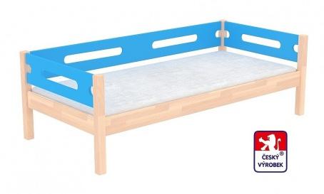 Masívna detská posteľ Benjamin Bubbles 90x200cm so zábranou - výber morenia a farby čiel