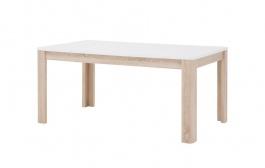 Jedálenský stôl rozkladací Attention - biely / dub sonona/ biely lesk