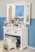 Toaletný stolík Amelie KOMPLET - dub provence biela
