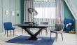 Jedálenský stôl rozkladací CASSINO I čierna mat