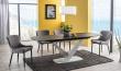 Jedálenský stôl rozkladací CASSINO II biely mat / ceramic grafit