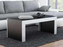 Konferenčný stôl MONICA čierna/biela