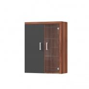 Závesná vitrína CHERIS 4 - slivka/sivý grafit