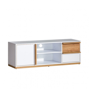 RTV stolík KNOX E4 - orech select/biela