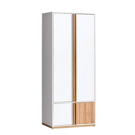 2-dverová skriňa KNOX E1 - orech select/biela