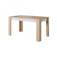 Jedálenský stôl rozkladací LAGUNA - betón/dub jantár/biely mat