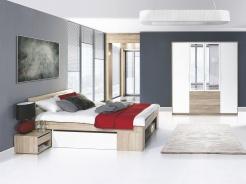 Spálňa MILO II (posteľ 140, skriňu)
