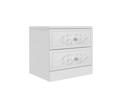 Nočný stolík Ariel - biely