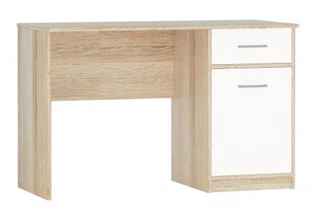 Písací stôl STELS - dub sonoma/biela