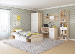 Detská izba STELS - dub sonoma/biela