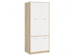 Skriňa 4-dverová STELS - dub sonoma/biela