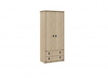Skriňa TORRO 2-dverová so zásuvkami - dub sonoma