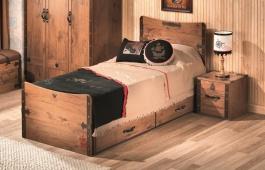 Detská posteľ Jack 100x200cm so zásuvkou - dub lancelot