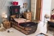 Detská posteľ Jack 90x190cm v tvare lode s úložným priestorom