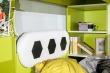 Poschodová posteľ Messi - zelená/biela