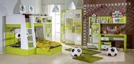 Detská izba FOTBAL - zelená/biela
