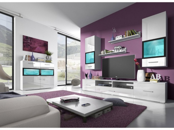Obývacia stena SILVA 210cm - biela