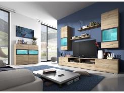 Moderná obývacia stena SILVA - dub san remo/antracit