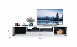 TV komoda YORK - biela vysoký lesk