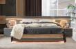 Manželská posteľ Markus 160x200cm - šedý lesk/dub sanremo