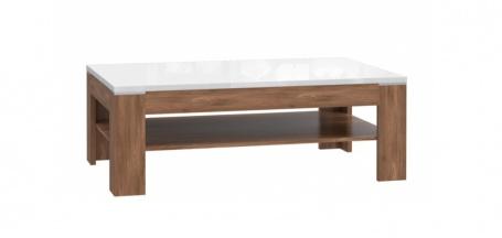 Konferenčný stolík Saint Tropez - dub sangallo / biely lesk