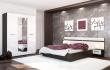 Manželská posteľ Nensí 160x200cm - wenge/biely lesk