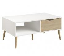 Konferenčný stolík Linnea - dub sonoma / biela