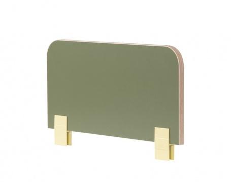 Zábrana k posteli Beatrice - zelená / dub svetlý