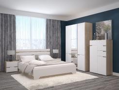 Manželská posteľ Antalia 160x200cm - dub sonoma/biela