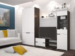 Obývacia stena Antalia - wenge/biela
