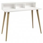 Písací stôl Linnea - dub sonoma / biela