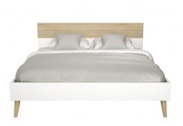 Manželská posteľ Linnea 180x200 - dub sonoma / biela