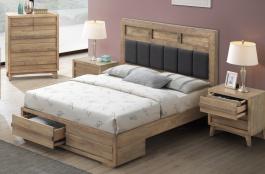 Manželská posteľ ALPENHOF 180x200cm - masív dub