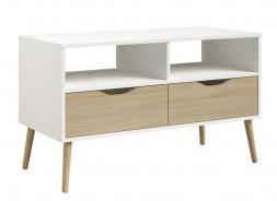 Televízny stolík Linnea II - dub sonoma / biela