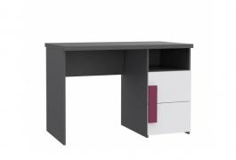 Detský písací stôl Lobete - sivá / biela / fialová