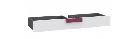 Zásuvka pod posteľ lobom - sivá / biela / fialová